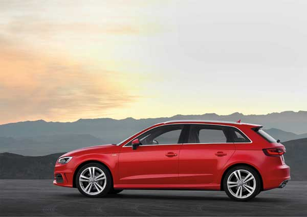 Third generation version of the five-door A3 debuts with more style and more room thanks to longer wheelbase