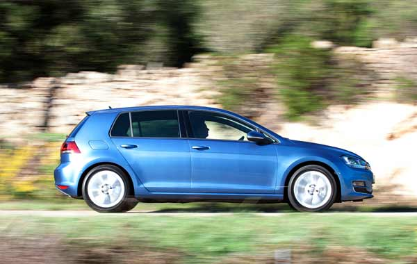 The Mk VII Golf being up to 100 kg lighter than the car it replaces