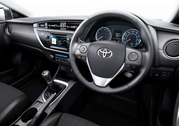 The  Auris's interior is more spacious and comfortable for everyone on board