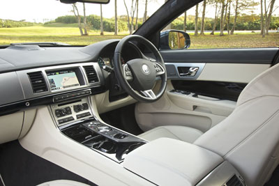 Inside the  XF Sportbrake