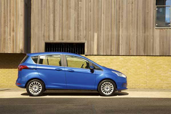 The B-Max has no pillar between front and back doors