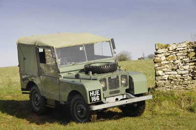 A very ancient 4x4, the first Series 1 Land Rover