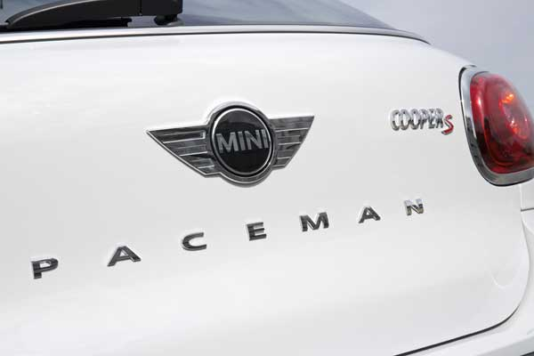 The Paceman is only MINI  to be identified by a rear nameplate