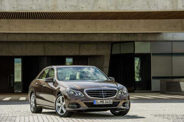 The new-generation E-Class features a new front-end design
