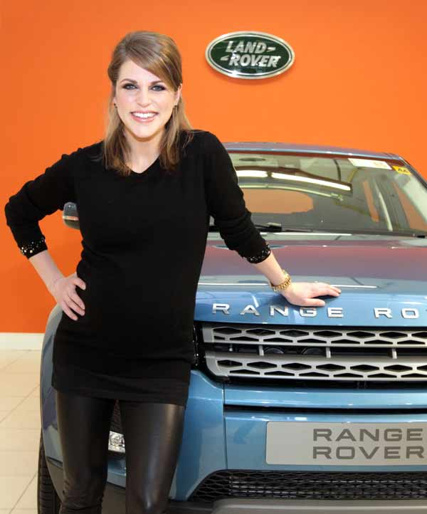 Amy Huberman has been a Land Rover ambassador since the launch of the Range Rover Evoque in 2011