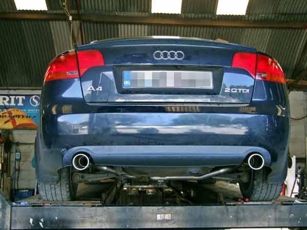 Audi Twin Exhaust