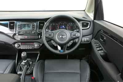 Inside the Kia Carens