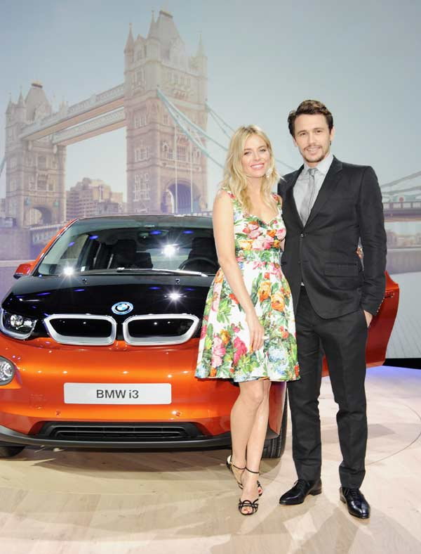 Sienna Miller and James Franco at the launch of the i3