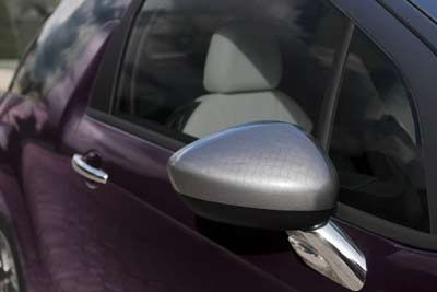 Laser-engraved wing mirror housings