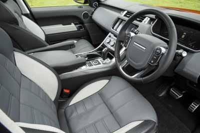 Inside the Range Rover Sport