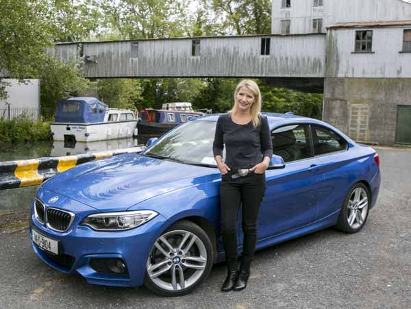 Geraldine Herbert drives the BMW 2 Series Coupe - Photos by Kyran O'Brien