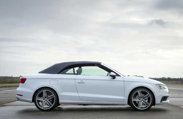 The A3 Cabriolet weighs just 1,365 kilograms