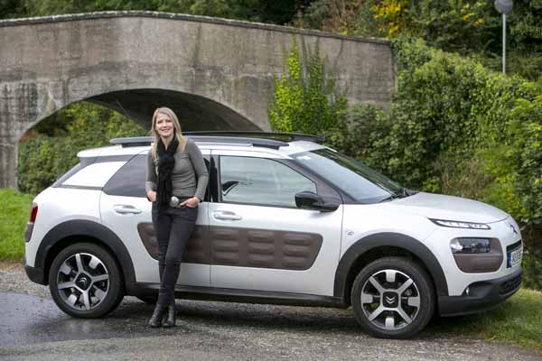 Geraldine Herbert with her car of the year for 2014 - Citroen C4 Cactus. Pic by Kyran O'Brien