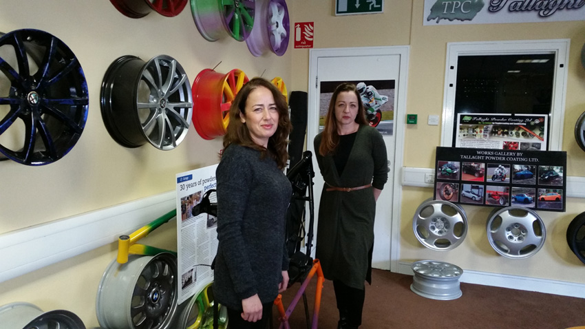 Michelle and Suzanne from Tallaght Powder Coating