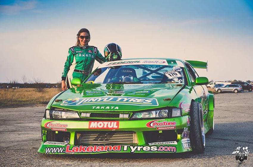 Danielle Murphy with her Green Monster. Photo by Zita Gacsal