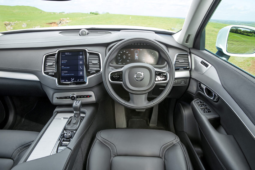 The XC90's interior is the most luxurious to have been designed for a Volvo.