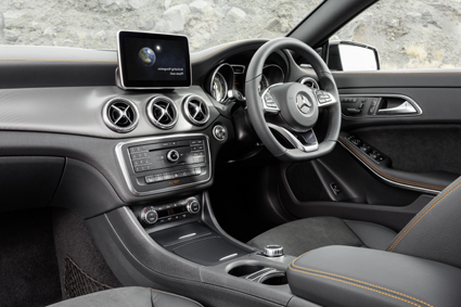 The sporty appearance is continued inside the vehicle.