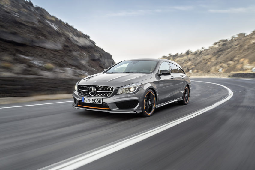 "According to Mercedes the """"The new CLA Shooting Brake offers a contemporary interpretation of sensual purity"""
