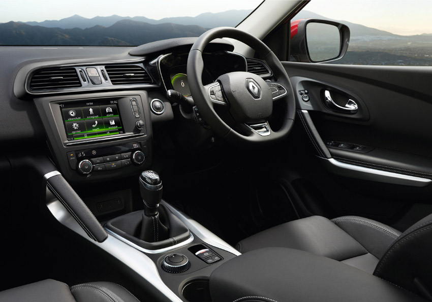 The instrument panel is designed to fall naturally in the driver's line of sight