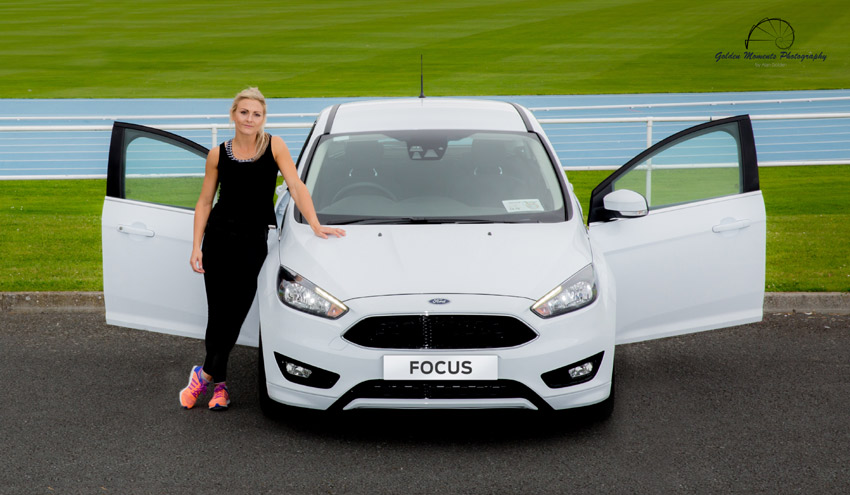 Olympic hopeful Kelly Proper and her Ford Focus Zetec S