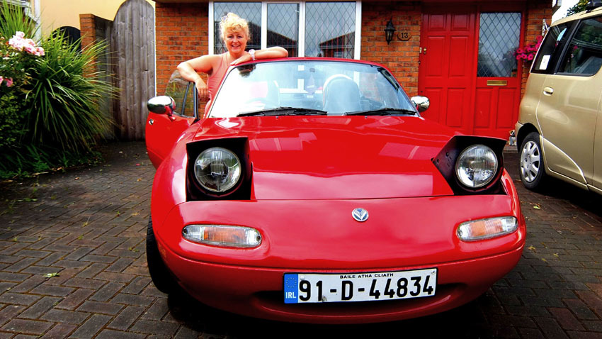 Teena Gates and here beloved Mazda MX-5