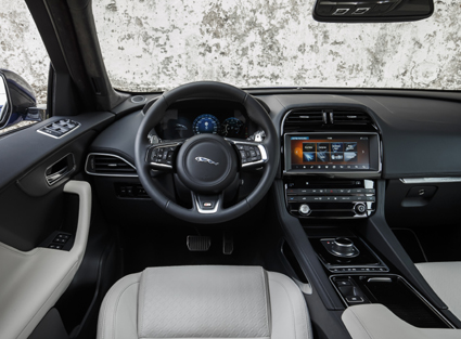Inside the F-Pace is spacious and airy