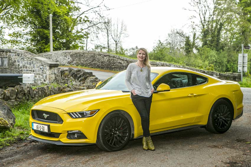Geraldine Herbert With The Ford Mustang Pic By Kyran Obrien