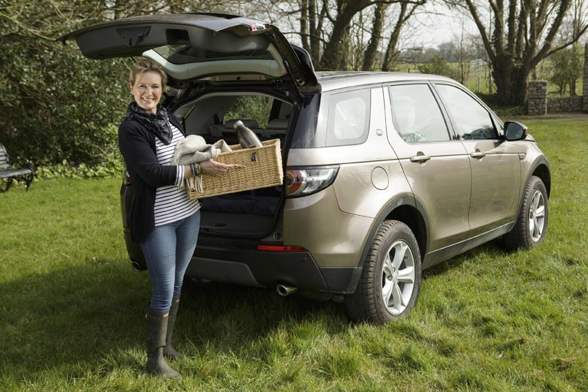 Rachel Allen with her Land Rover Discovery Sport