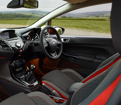 Inside the Ford Fiesta Black Edition