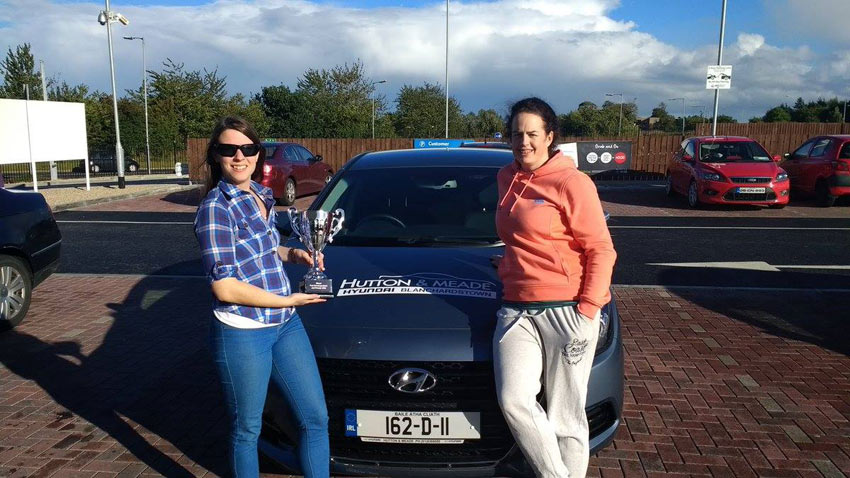 Laura Keane and Claire Collins achieved an incredible 2.13 litre per 100 kms in their Hyundai i40