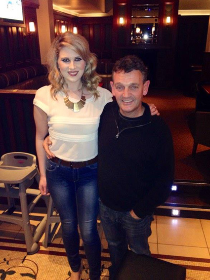 Aimee with the legendary Tommy Byrne