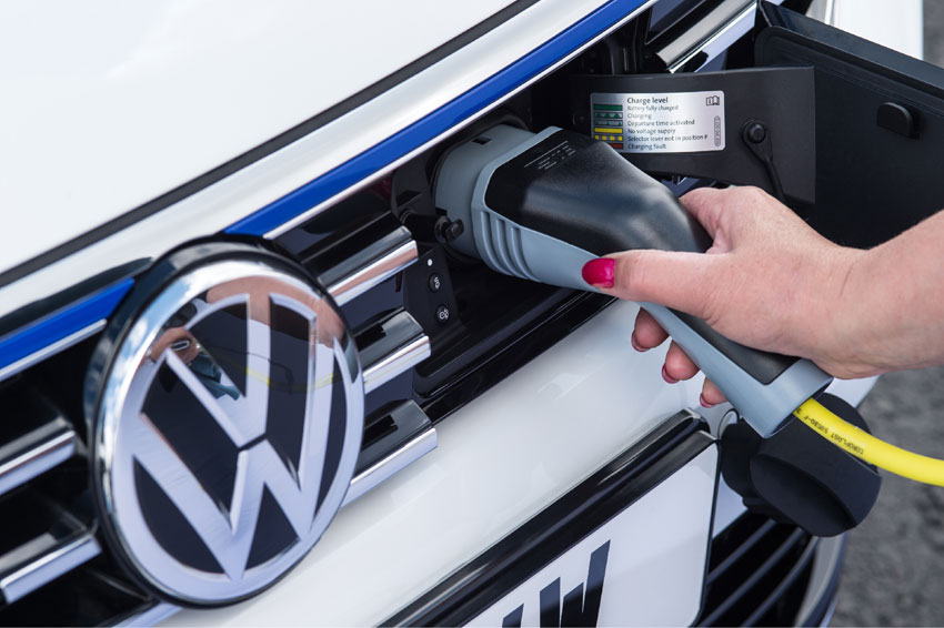 The Passat GTE is a plug-in hybrid that can be driven up to 31 miles on electric power alone in E-Mode